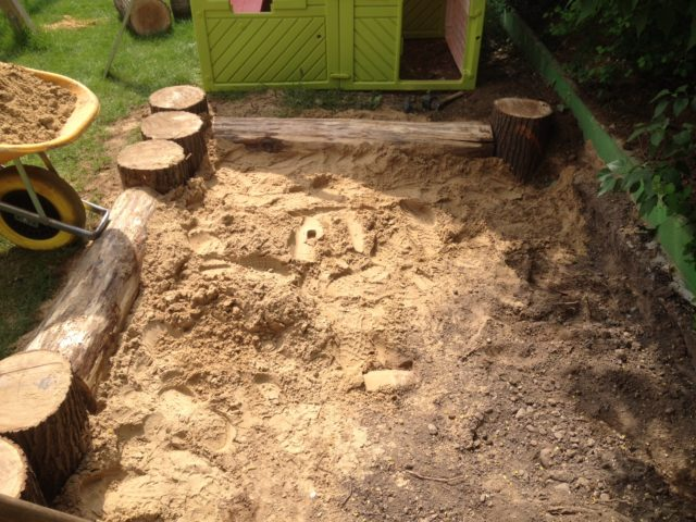 Sandkastenbau